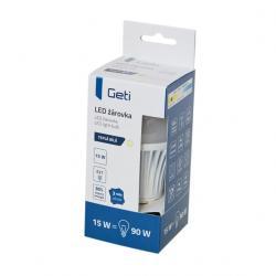 LED žárovka Geti A60, E27, 15W, teplá bílá