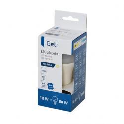 LED žárovka Geti A60, E27, 10W, bílá teplá