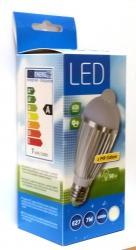 LED žárovka s PIR čidlem Tipa A60 7W - E27 přírodní bílá (neutrální)