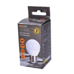 LED žárovka Solight, miniglobe, 6W, E27, 4000K, 450lm