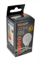 LED žárovka Solight, miniglobe, 6W, E14, 3000K, 450lm