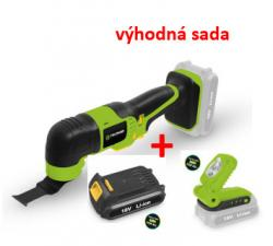 Sada - aku multinářadí 18 V Fieldmann FDUB 50701  + baterie 18 V + LED světlo 18 V