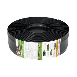 Skrytý obrubník AMISPOL výška 125 mm, návin 25 m, PE s UV stabilizátorem - černý