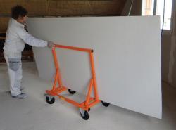 Transportní vozík  na sádrokartonové desky WAG 450, nosnost 450 kg (novinka na trhu v ČR)