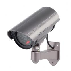 Atrapa kamery KÖNIG, blikající LED, 2 x AA baterie - venkovní