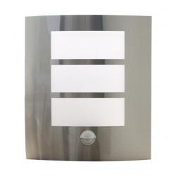 Venkovní svítidlo Retlux RSM 116 s PIR senzorem, klasická objímka E27 (nerez/plast)