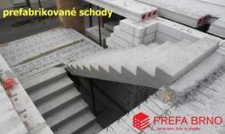 Betonové prefabrikované schody Prefa