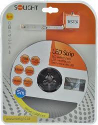 LED pásek s testrem, 5m, sada s 12V adaptérem, 4,8W/m, IP20, studená bílá